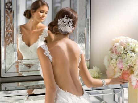 Váy cưới hở lưng gợi cảm cho cô dâu