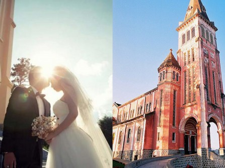 Chụp hình cưới đẹp tại nhà thờ Con Gà Đà Lạt