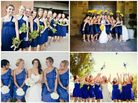 Váy phụ dâu màu xanh dazzling blue