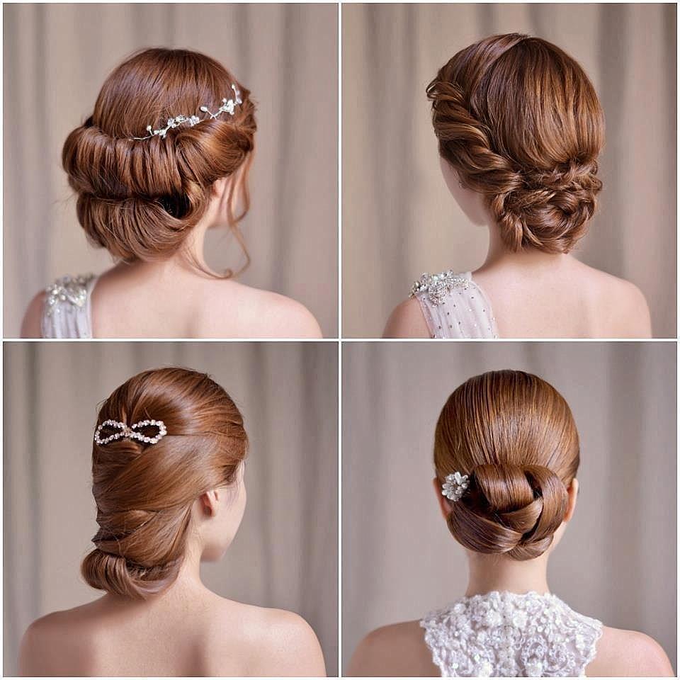 4 kiểu tóc cưới búi nhẹ phong cách Hàn Quốc