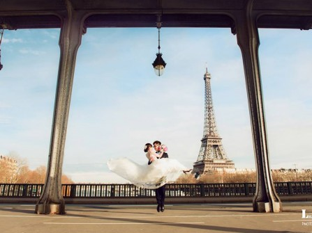Địa điểm chụp ảnh cưới: Thiên đường Paris, Pháp