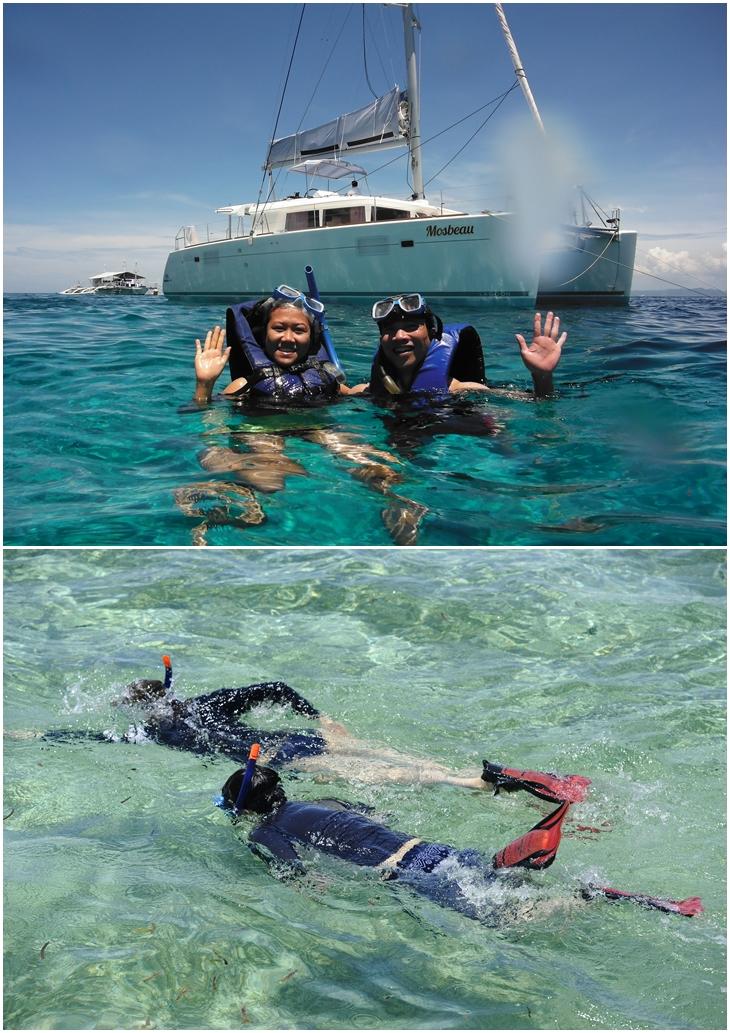 Các hoạt động trên biển tại đảo Nalusuan