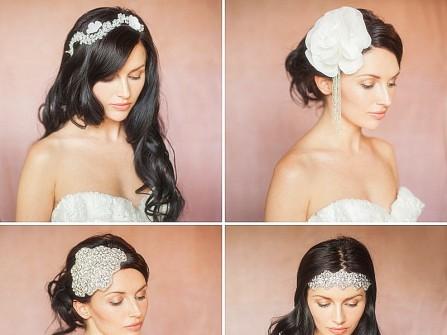 4 kiểu tóc cưới lãng mạn cùng phụ kiện