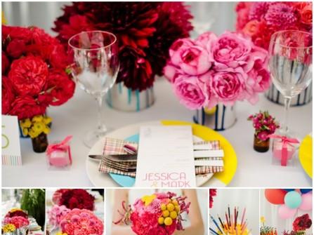Hoa cưới trang trí sắc màu mùa hè