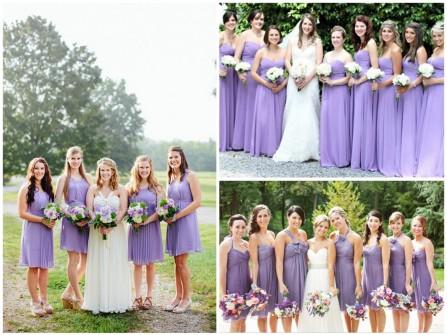 Váy phụ dâu màu tím nhạt Violet Tulip
