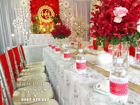 Dịch vụ trang trí tiệc cưới Thái Dương