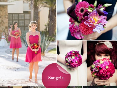 Theme đám cưới màu tím Sangria