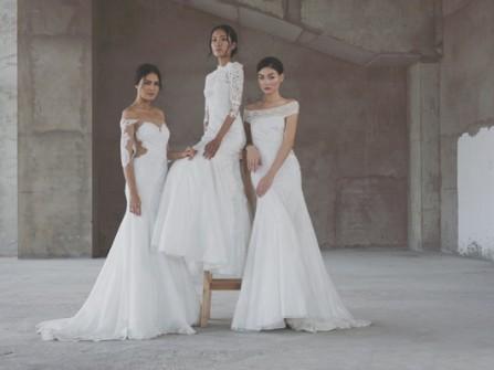 Váy cưới ren lãng mạn tuyệt vời từ Trương Thanh Hải