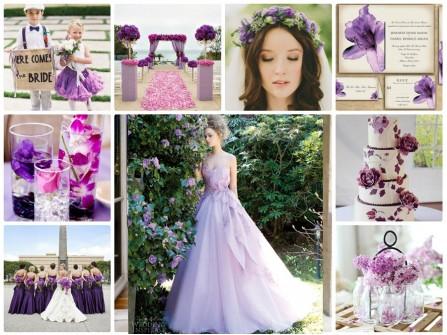 Theme cưới màu tím ngọt ngào và lãng mạn