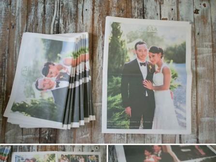 Thiệp cưới độc đáo dạng tờ báo mới