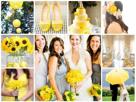 Theme cưới màu vàng rạng rỡ và vui tươi