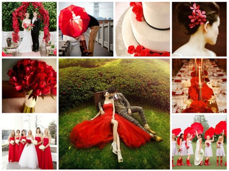 Theme cưới màu đỏ ruby sang trọng và quý phái