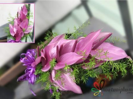 Hoa cưới sắc màu hiện đại
