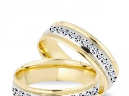 Nhẫn cưới vàng đính kim cương sang trọng