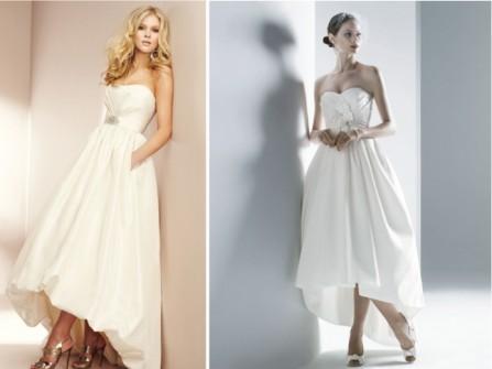 Váy cưới cúp ngực kiểu mullet dáng dài