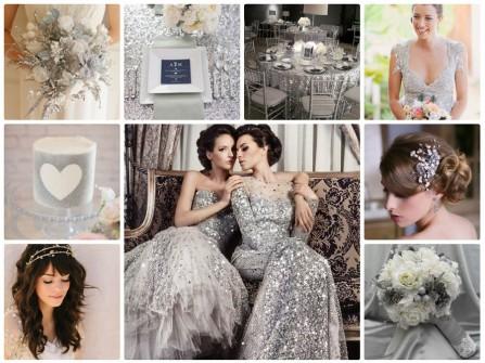 Theme cưới màu ánh bạc lấp lánh, sang trọng