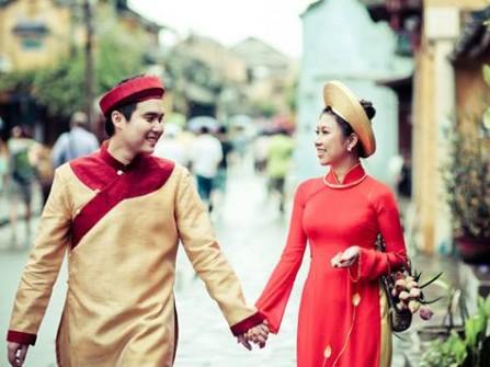 Áo dài cưới đa phong cách cho cô dâu chú rể? Sự kết hợp màu sắc và sự hài hoà trong áo dài cưới dành cho nam.