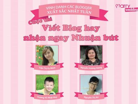 """Kết quả tuần 6 (13/10 đến 19/10) chương trình: """"Viết Blog hay nhận ngay nhuận bút"""""""