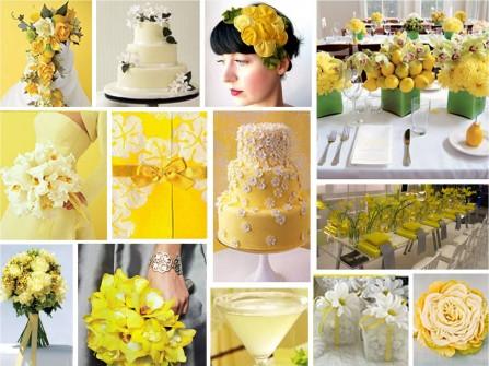 Theme cưới trắng vàng rực rỡ và ngọt ngào