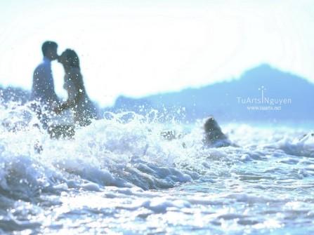 Địa điểm chụp ảnh cưới: biển Thiên Cầm, Hà Tĩnh