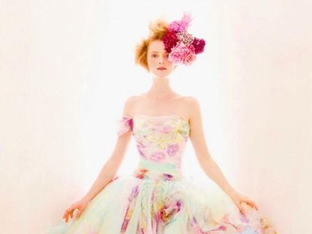 Váy cưới voan hoa mùa xuân nổi bật
