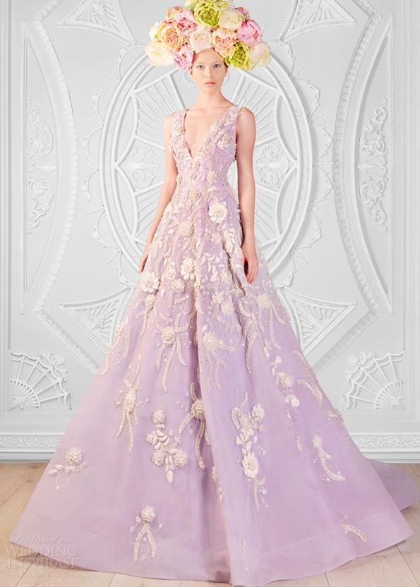 Váy cưới dáng xòe thêu hoa nổi 3D