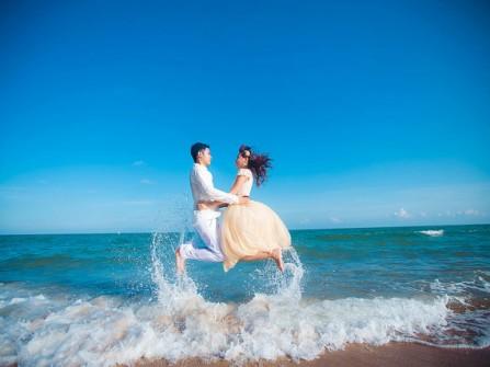 Địa điểm chụp ảnh cưới đẹp: Biển Hồ Cốc