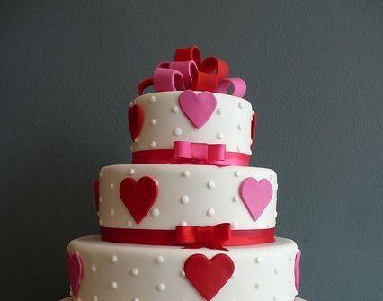 Bánh cưới đẹp dành cho đám cưới ngày Valentine