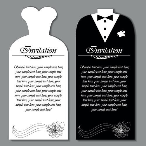 Thiệp cưới đẹp kiểu trang phục cô dâu chú rể