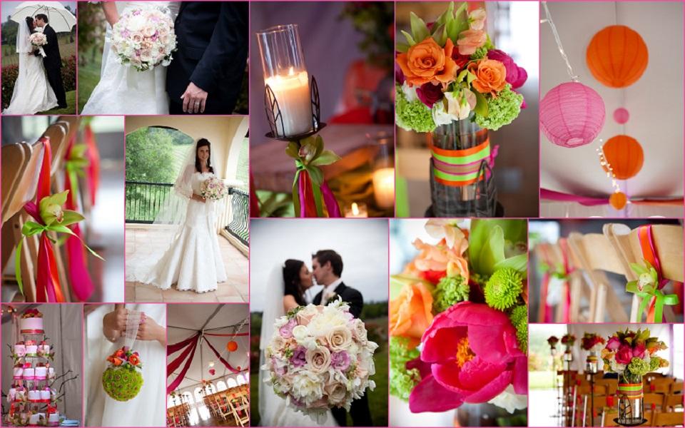 Rực rỡ sắc màu trang trí đám cưới mùa xuân