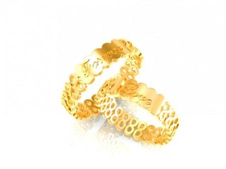 Nhẫn cưới vàng biểu tượng tình yêu vĩnh cửu