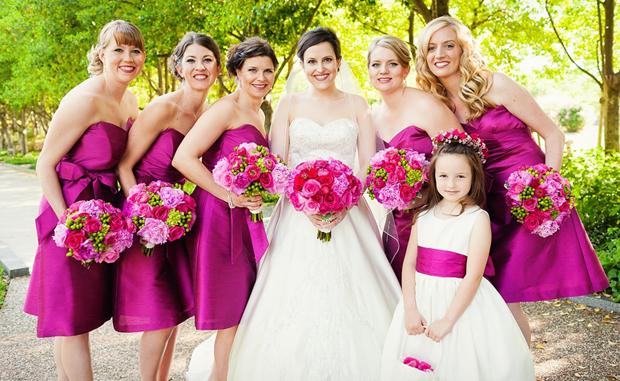 Váy phụ dâu màu tím dáng chữ A cúp ngực