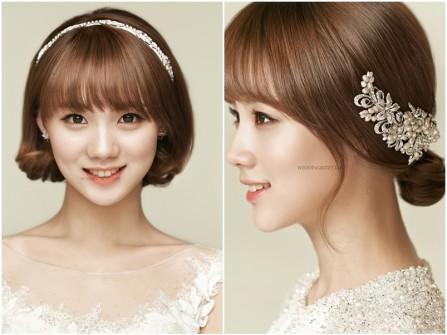 2 kiểu tóc cô dâu ngắn xinh xắn và đơn giản