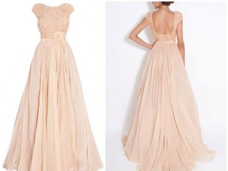Váy cô dâu thướt tha với tông hồng pastel