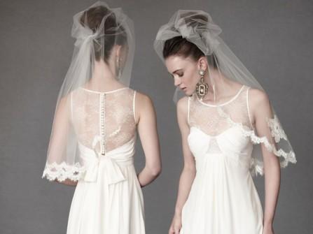 Váy cưới trắng phong cách vintage của BHLBN