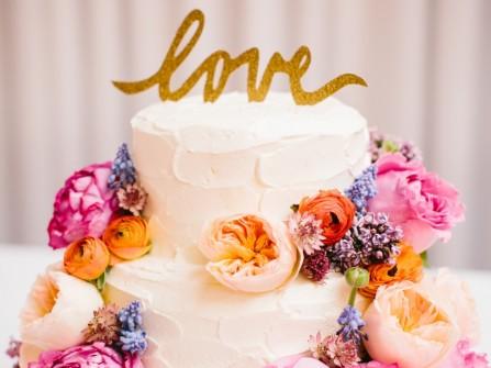 Bánh cưới đẹp kết hoa hồng David Austin thanh lịch