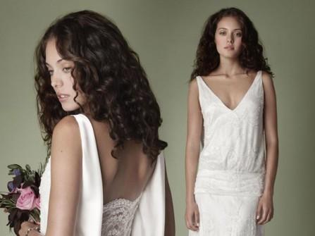 Váy cưới đẹp lưng trễ suôn dài phong cách vintage