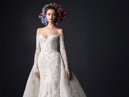 Váy cưới đẹp dáng đuôi cá cách điệu quyến rũ