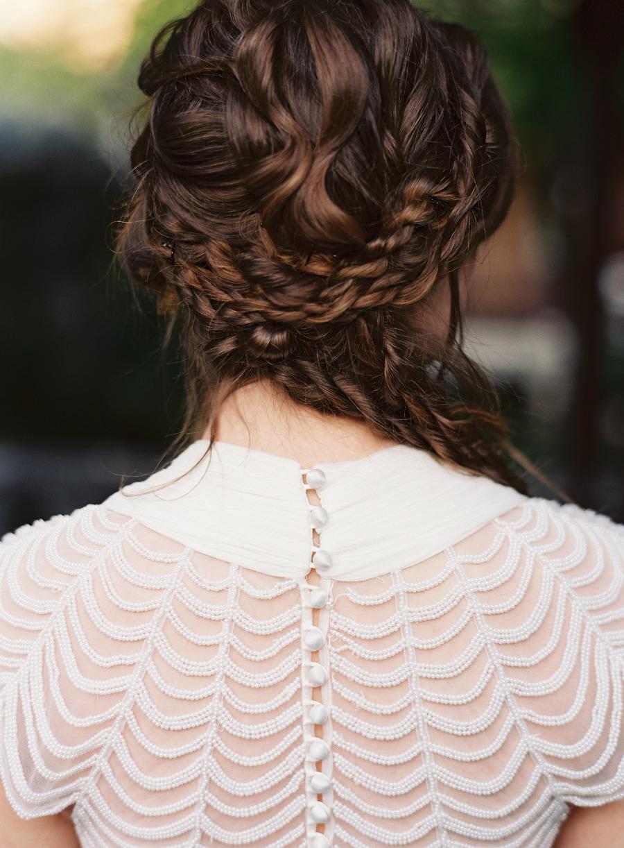 Tóc cưới đẹp tết bím xoắn kiểu dây thừng hoang dã