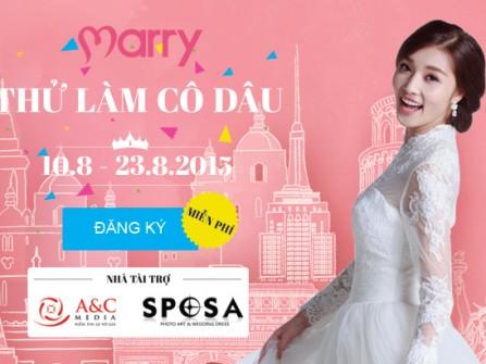 """Cuộc thi """"Thử làm cô dâu"""" Marry Wedding Day Hà Nội 2015"""