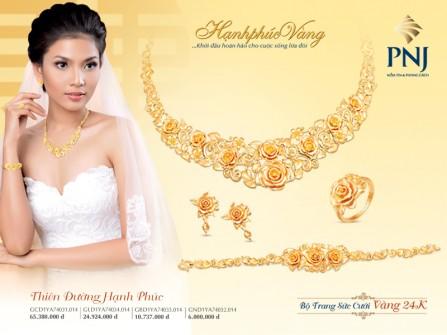 PNJ ra mắt Bộ sưu tập trang sức cưới Hạnh Phúc Vàng 2015
