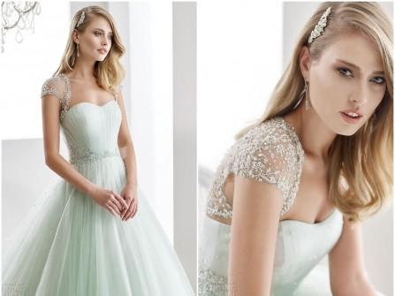 Váy cưới đẹp chất voan đính kim sa tinh tế