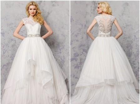 Váy cưới đẹp chất voan phối ren mỏng đính đá cầu kỳ