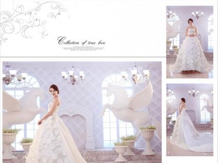 Váy cưới đẹp phong cách công chúa với ren hoa độc đáo