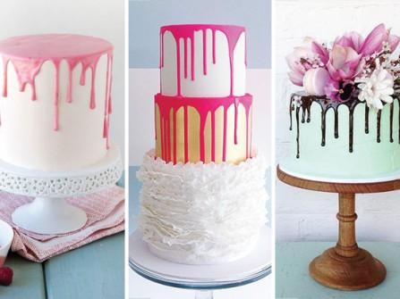 Bánh cưới kem tan chảy nghệ thuật
