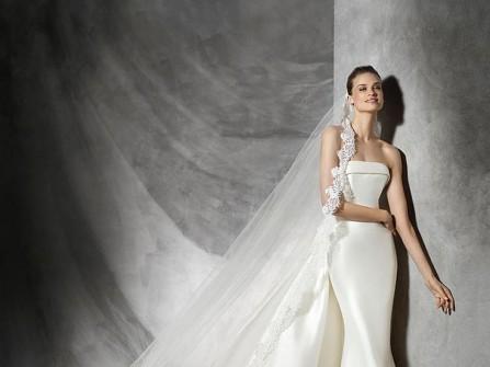 Váy cưới đẹp dáng đuôi cá, phong cách đơn giản