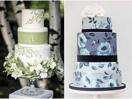Bánh cưới đẹp với hình thức vẽ tay đầy đẳng cấp