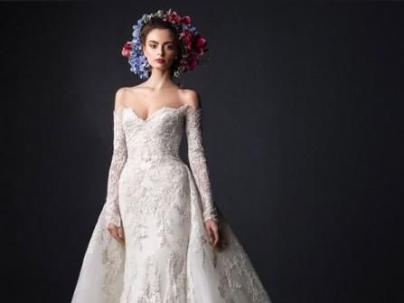 Váy cưới đẹp dáng đuôi cá kết hợp tùng váy xòe ấn tượng