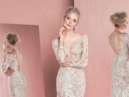 Váy cưới đẹp dáng đuôi cá phối ren quyến rũ