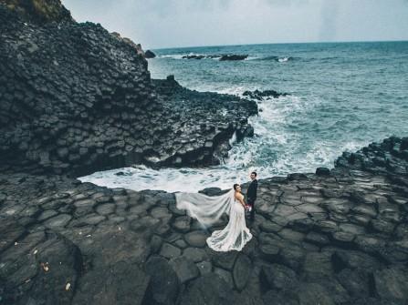 Địa điểm chụp ảnh cưới: Gành đá đĩa, Phú Yên